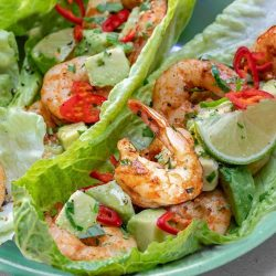 Chili Lime Shrimp Wraps Fresh Clean Eating! Dora Wang pinterest recipe