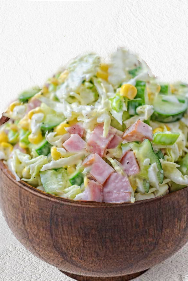 Cabbage and Ham Salad Dora Wang pinterest recipe