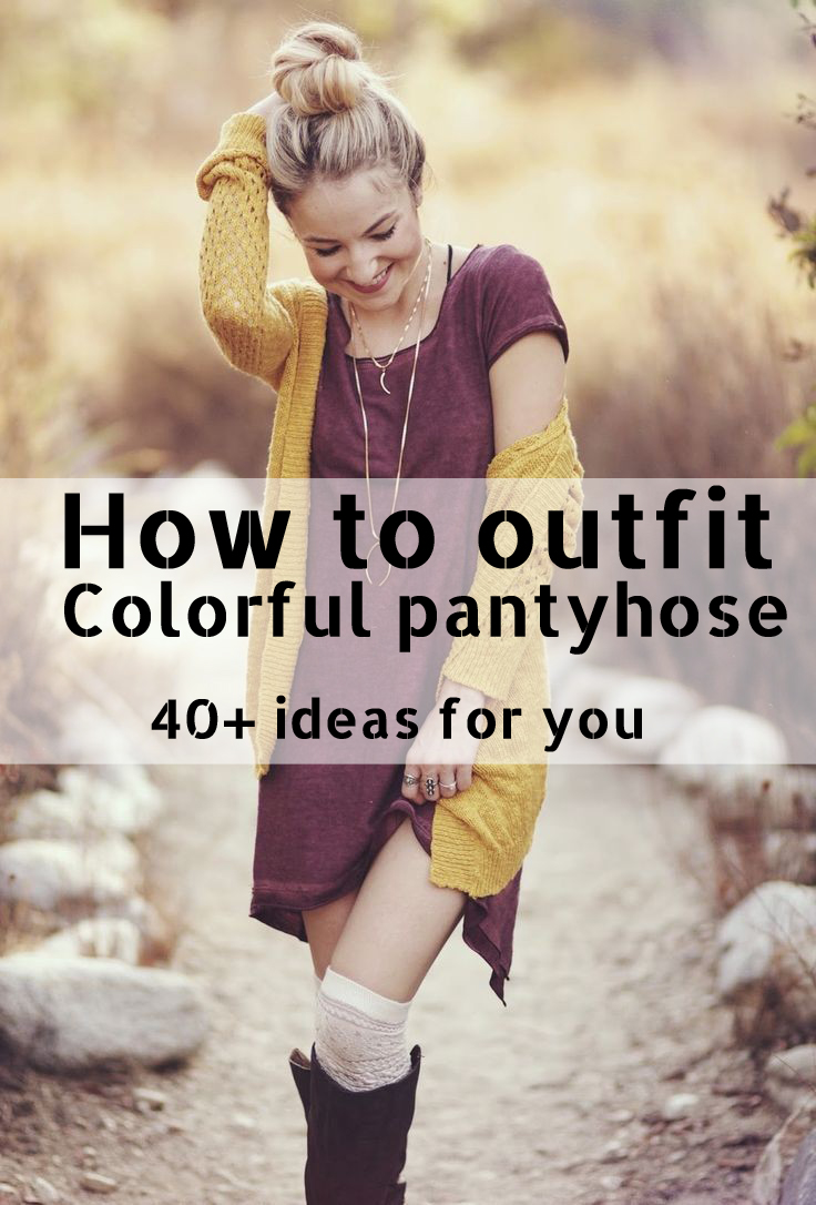 40+ ideas for you How to outfit Colorful pantyhose