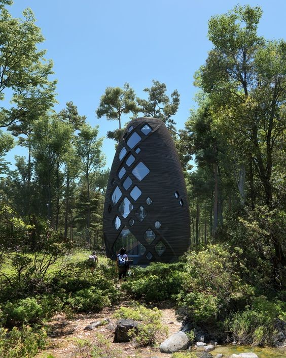 A 3D-Printed Home TERA by AI SpaceFactory