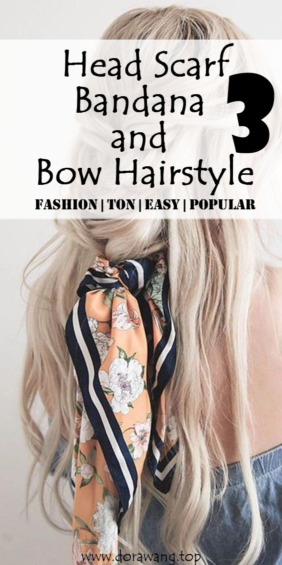 Head Scarf, Bandana and Bow Hairstyle Match hairstyle part three