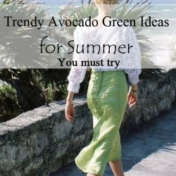 Trendy Avocado Green it is a good Ideas for Summer dress 2