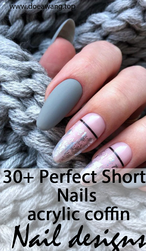 30+ Perfect Short  Nails Coffin And Square Designs