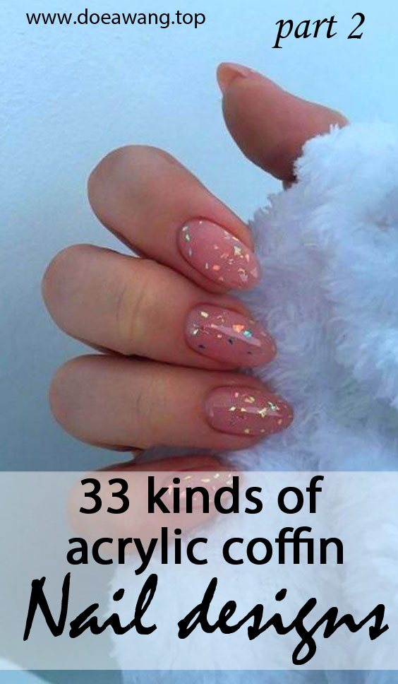 33 kinds of acrylic coffin nail designs can enhance your confidence part 2