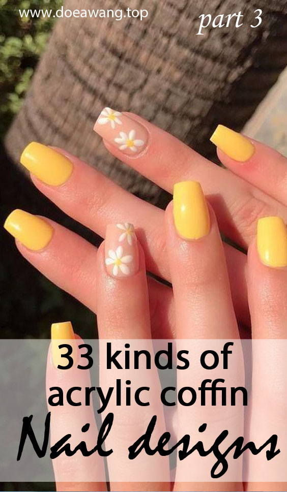 33 kinds of acrylic coffin nail designs can enhance your confidence part 3