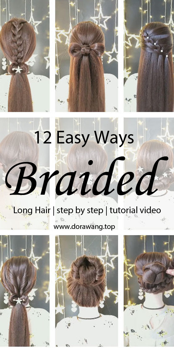 12 Easy Ways braided hair Fashion