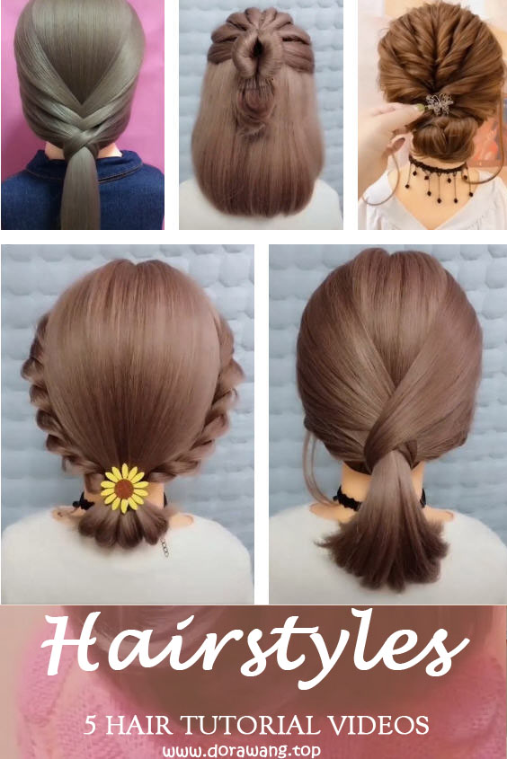 5 HAIR TUTORIAL VIDEOS HOW TO STYLE HAIR VIDEOS