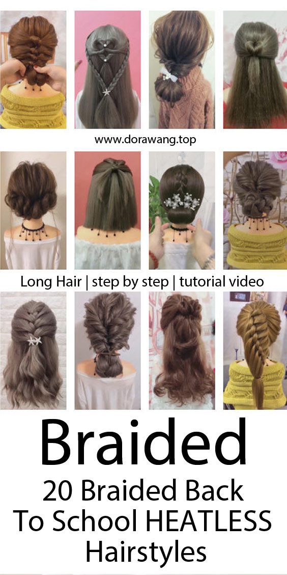 20 Braided Back To School HEATLESS Hairstyles!