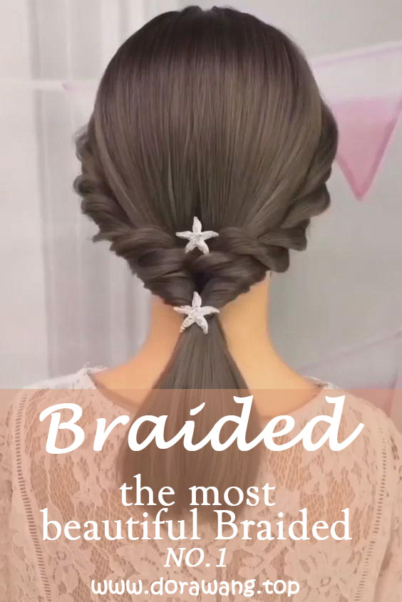 20 of the most beautiful Braided Bridal Updos NO.1 Soft and fuzzy