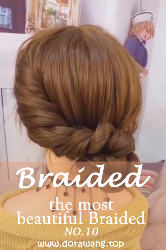 20 of the most beautiful Braided Bridal Updos NO.10 dip dye your hair