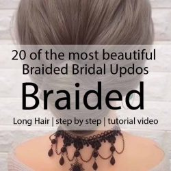20 of the most beautiful Braided Bridal Updos NO.20 The end