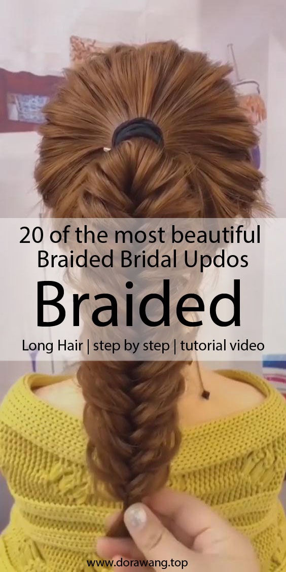20 of the most beautiful Braided Bridal Updos NO.4 arts