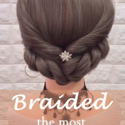 20 of the most beautiful Braided Bridal Updos NO.5 The low braided bun