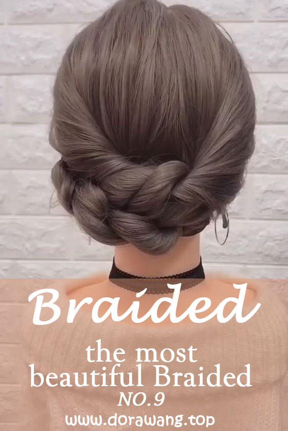 20 of the most beautiful Braided Bridal Updos NO.9 ponytail